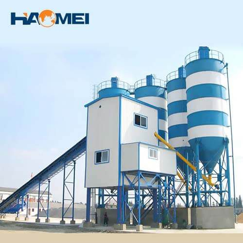 buy hzs120 stationary concrete batching plant