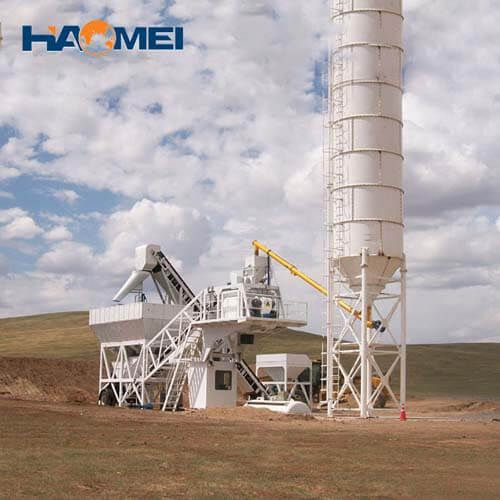 china hzs50 stationary concrete batching plant