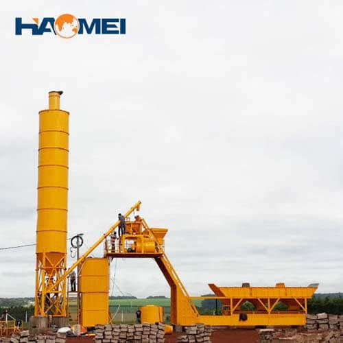 hzs50 stationary concrete batching plant in stock