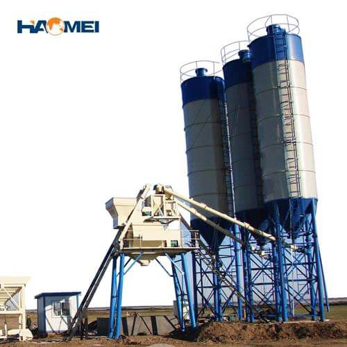 hzs75 stationary concrete batching plant factory