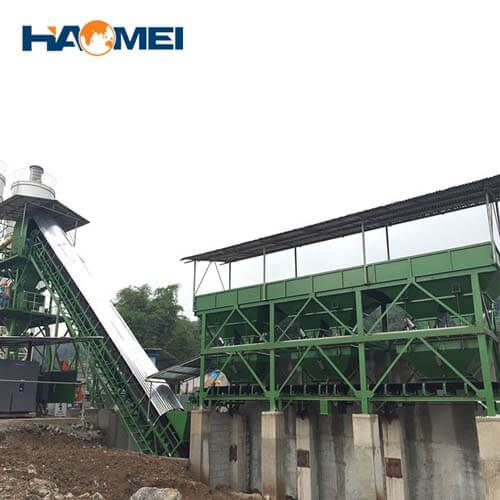 hzs75 stationary concrete batching plant supplier
