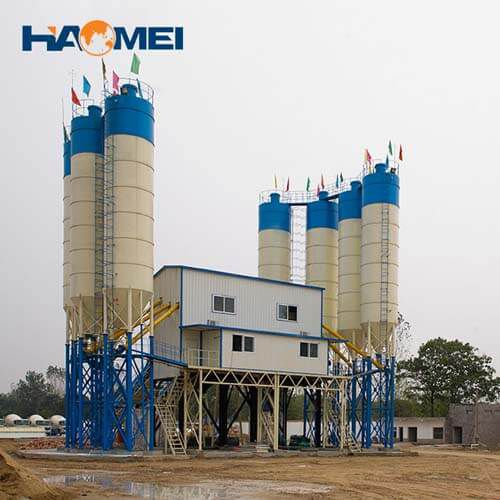 cheap hzs180 stationary concrete batching plant