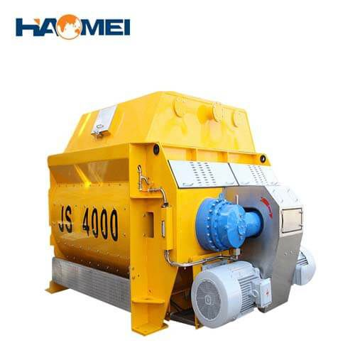 customized JS4000 concrete mixer