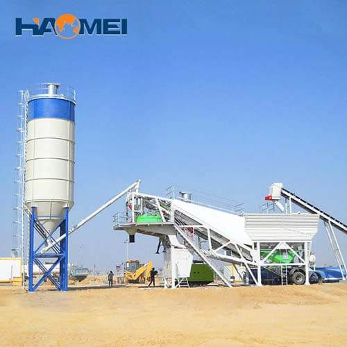customized YHZS75 mobile concrete batching plant