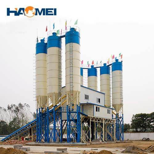 hzs180 stationary concrete batching plant price