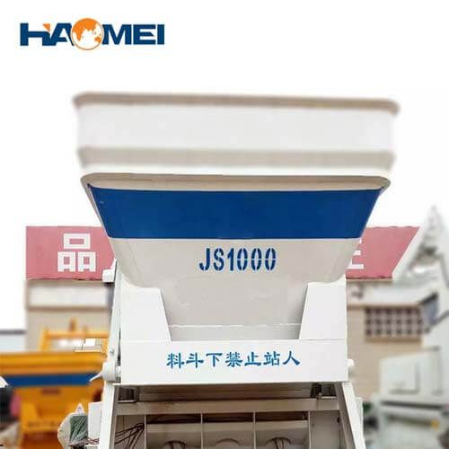 low cost JS1000 concrete mixer
