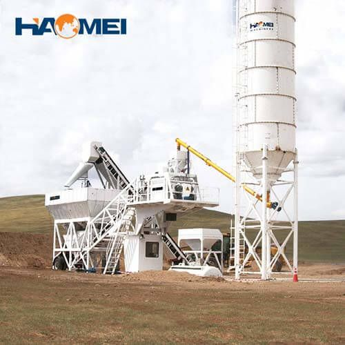 YHZS25 mobile concrete batching plant manufacturer