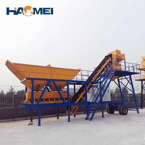 YHZS25 mobile concrete batching plant price