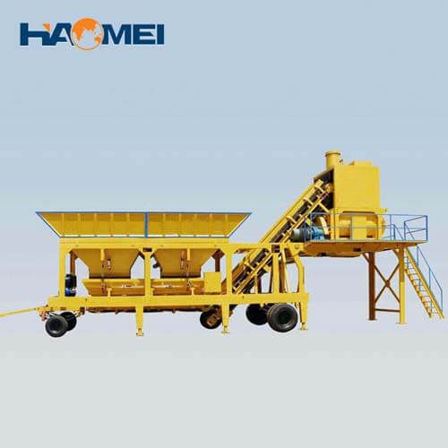 YHZS35 mobile concrete batching plant factory price