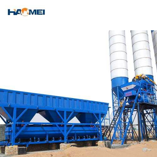 YHZS35 mobile concrete batching plant factory