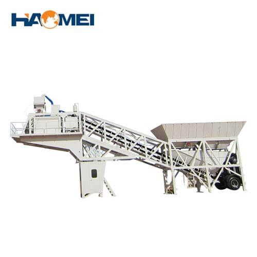 YHZS35 mobile concrete batching plant for sale
