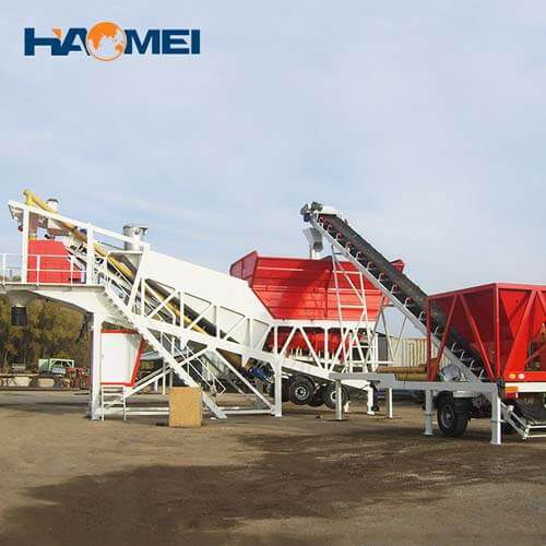 YHZS75 mobile concrete batching plant for sale