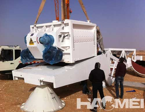 YHZS60 Mobile Concrete Batching Plant Was Shipped To Saudi Arabia
