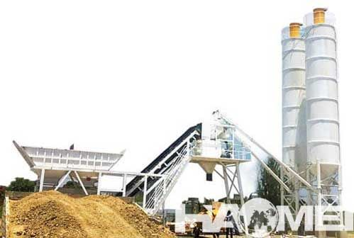 HZS75 Concrete Batching Plant Installed in Philippines