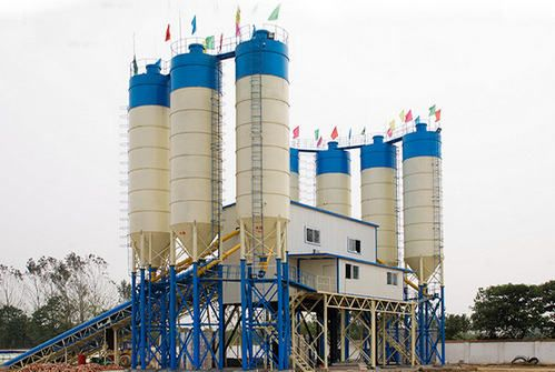 hzs35 stationary concrete batching plant