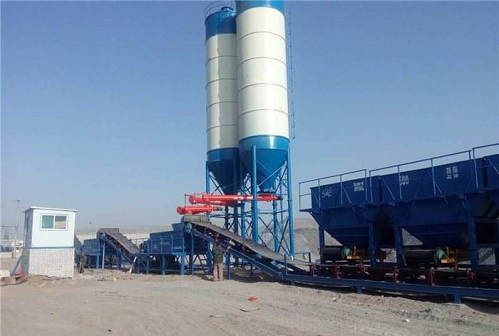 buy hzs50 stationary concrete batching plant