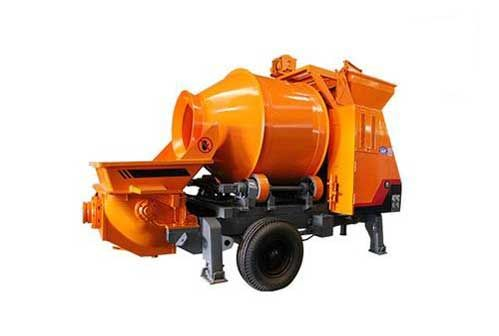 China mobile concrete mixer with pump