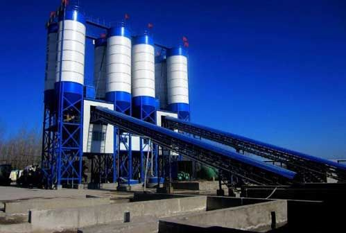 Concrete Batching Plant Instead Of Manual Mixing