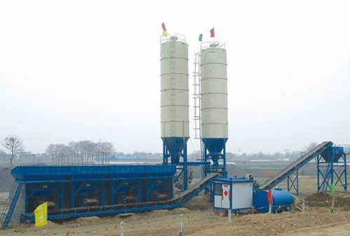 Stationary Concrete Mixing Plant Preparation