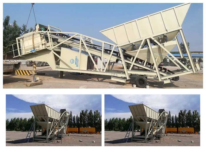 hzs75 stationary concrete batching plant
