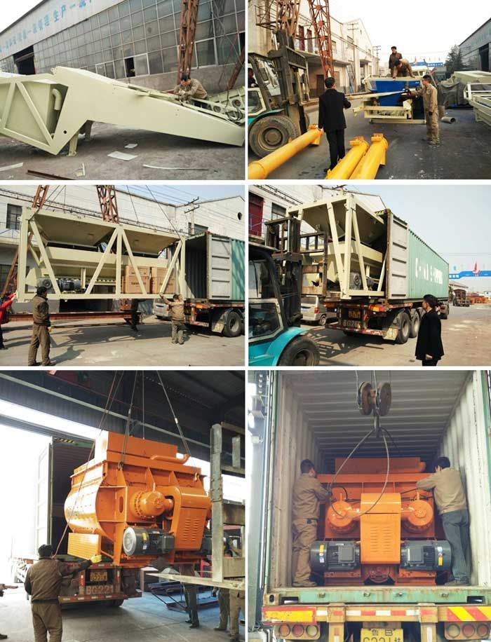 hzs75 stationary concrete mixing plant