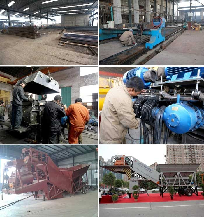 hzs75 stationary concrete plant