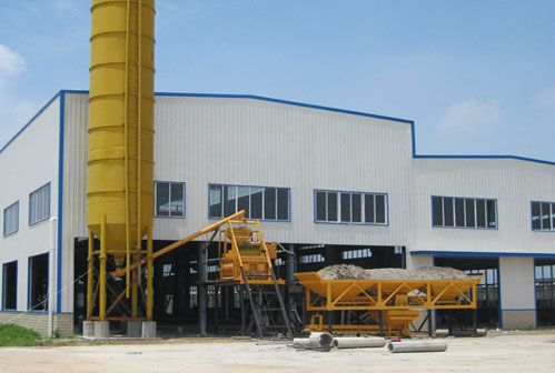 china stationary concrete batching plant factory