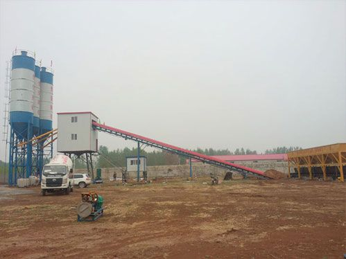 stationary concrete batching plant factory