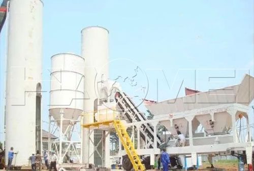 stationary concrete mixing plant factory