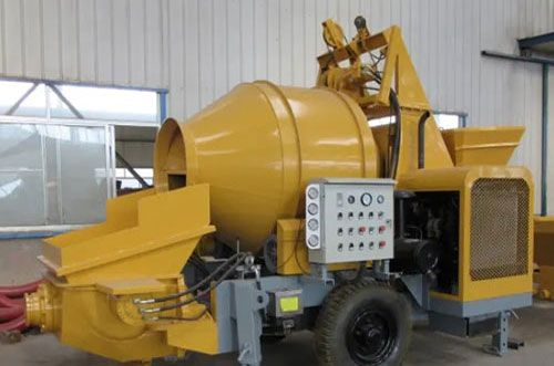 Mobile Concrete Mixer With Pump Factory