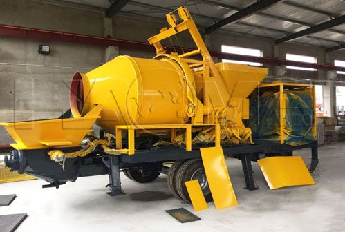Mobile Concrete Mixer With Pump Removes Blockage